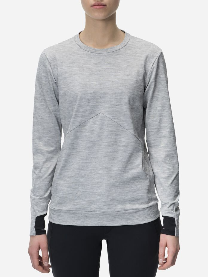 Men's Civil Mid-Layer Crew neck Med Grey Mel | Peak Performance