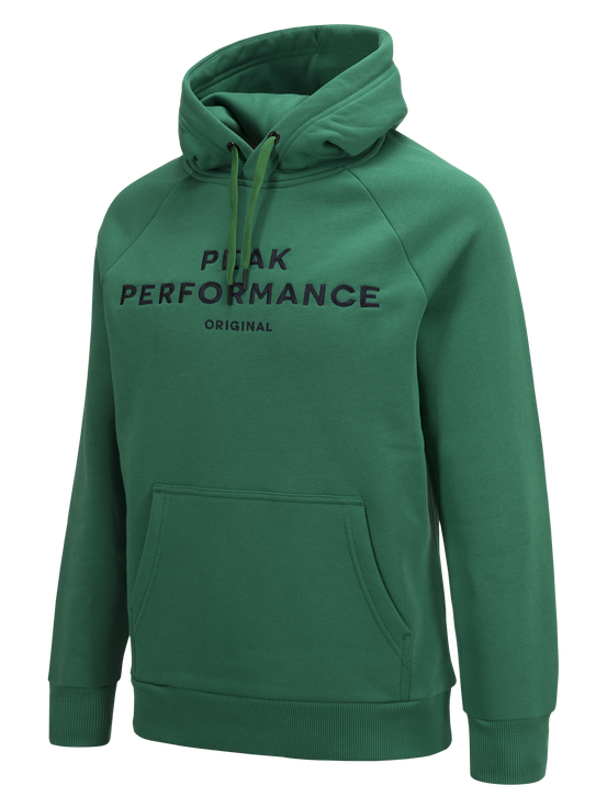 Logo herrtröja med huva Green Pepper | Peak Performance