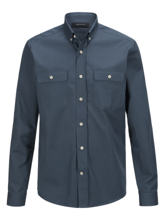 Men's Dean Army Shirt Blue Steel | Peak Performance
