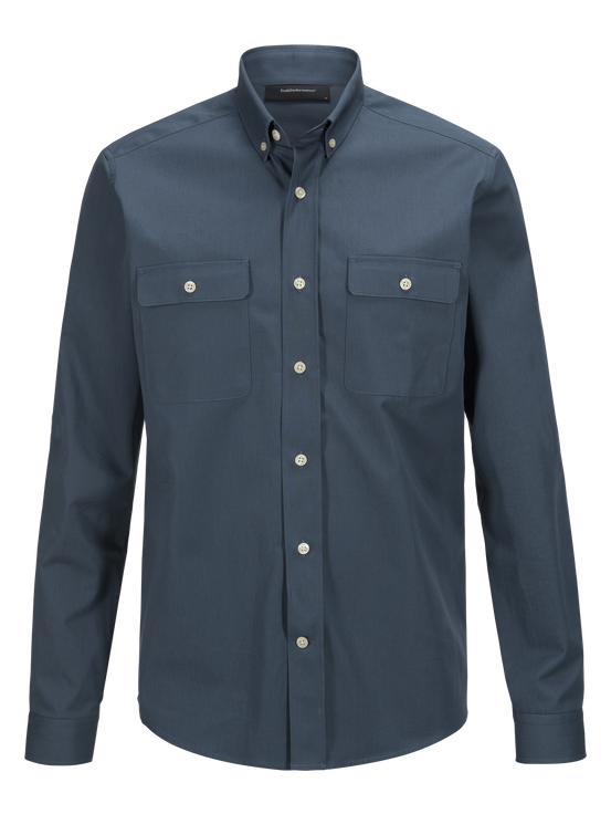 Herren Dean Army Hemd Blue Steel | Peak Performance