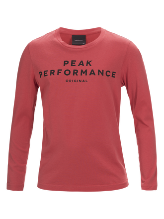 Kids Long-sleeved T-shirt Softer Red | Peak Performance