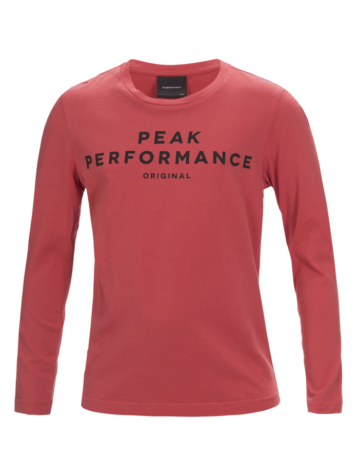 Kids Long-sleeved T-shirt Softer Red | Peak Performance