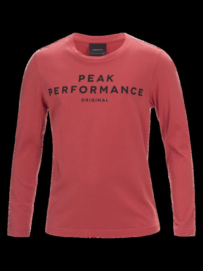 Kids Langärmliges T-Shirt Softer Red | Peak Performance