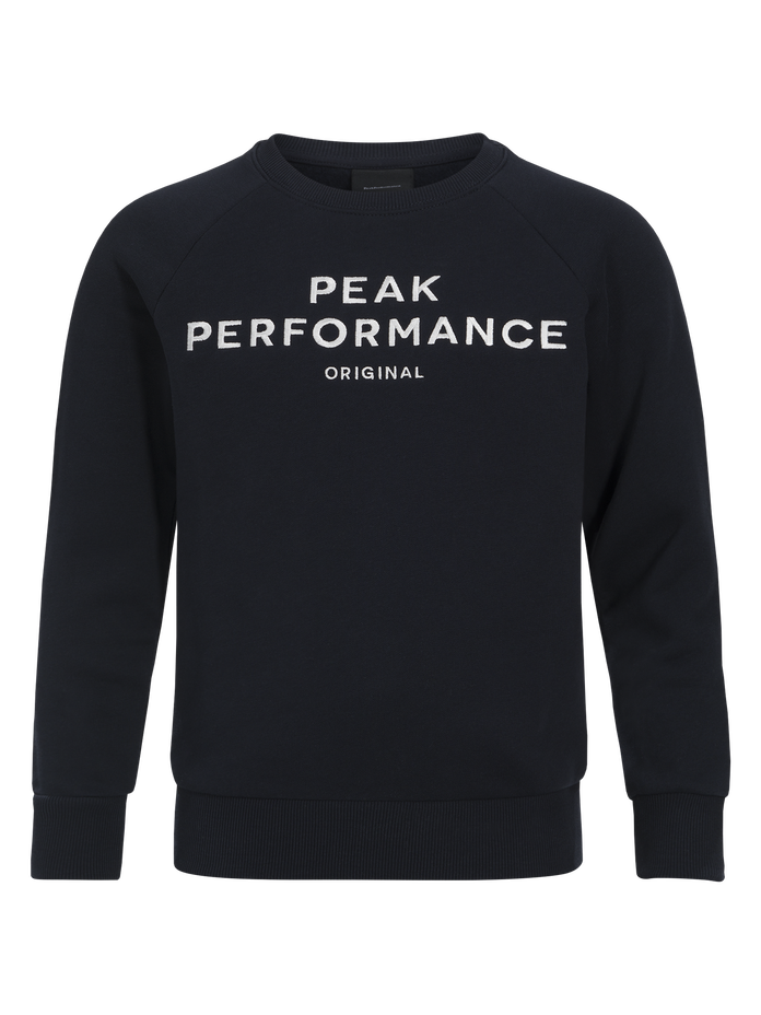 Kids Logo Crew neck Salute Blue | Peak Performance