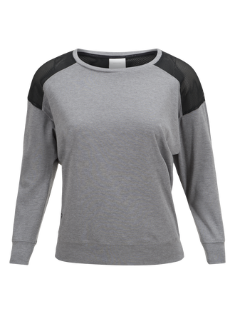 Women's Civil Mesh Long-sleeved Top Grey melange | Peak Performance