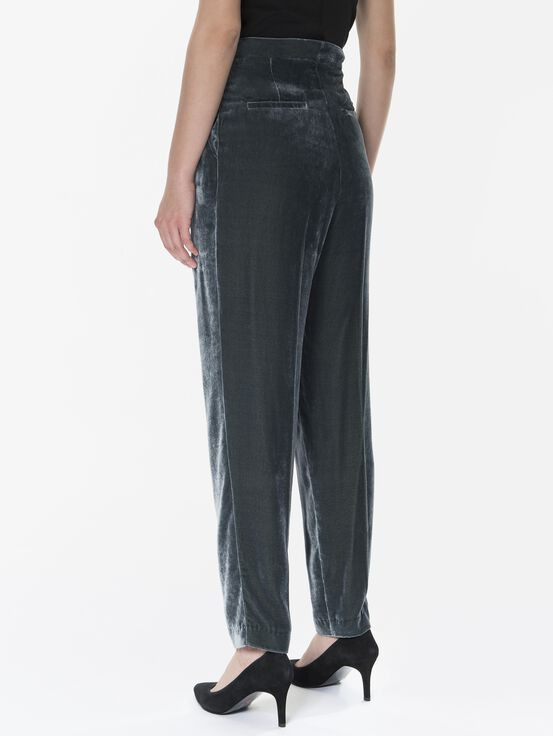 Women's Velvet Pants Blue Steel | Peak Performance