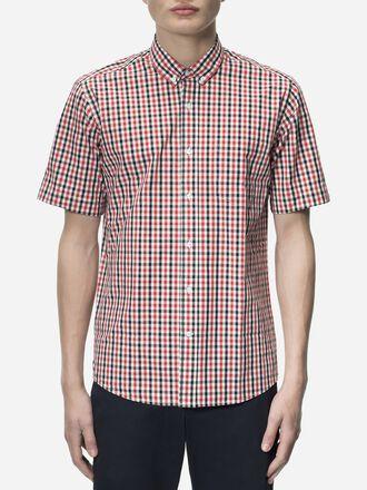 Dean rutig kortärmad skjorta för herrar Pattern | Peak Performance