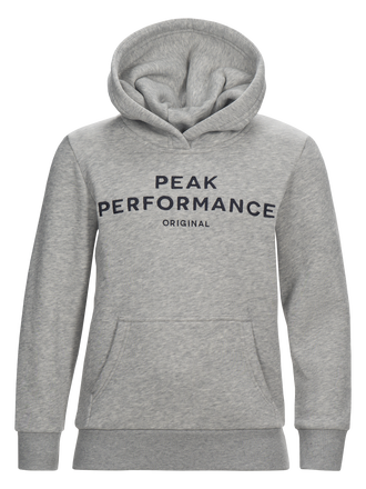 Sweat à capuche enfant Med Grey Mel | Peak Performance