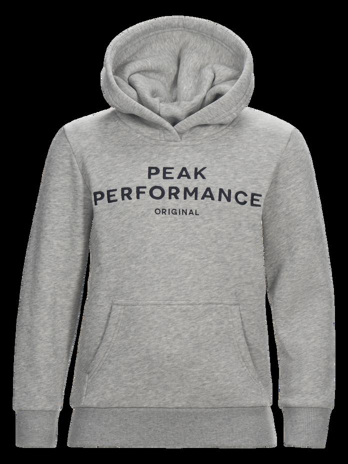 Kids Hooded Sweater Med Grey Mel | Peak Performance