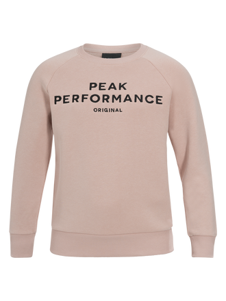 Kids Logo Crew neck Softer Pink | Peak Performance