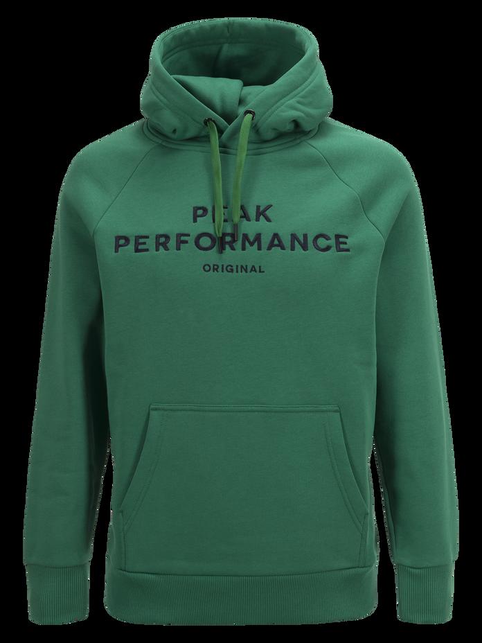 Men's Logo Hood Green Pepper   Peak Performance