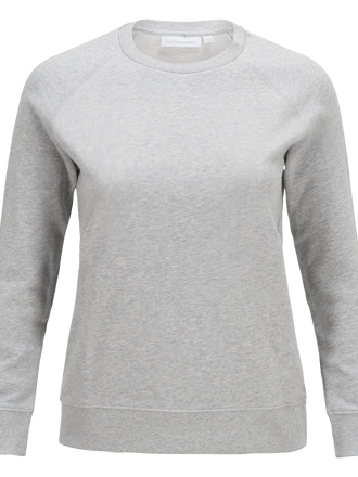 Women's Original Crew neck Med Grey Mel | Peak Performance