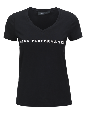 Pull col V femme Shell Black | Peak Performance