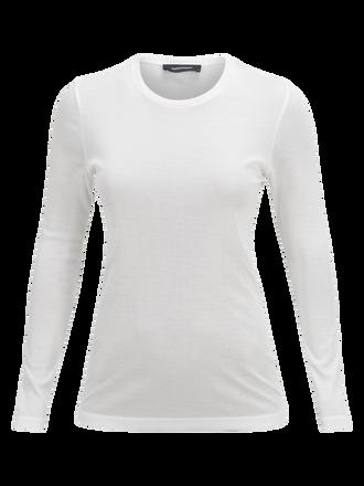 Women's Fav Longsleeve T-shirt Offwhite | Peak Performance