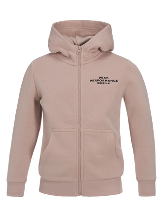 Kids Zipped Hooded Sweater Softer Pink | Peak Performance