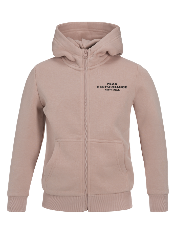 Sweat zippé à capuche enfant Softer Pink | Peak Performance