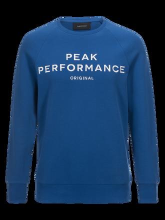 Men's Logo crew neck True Blue | Peak Performance