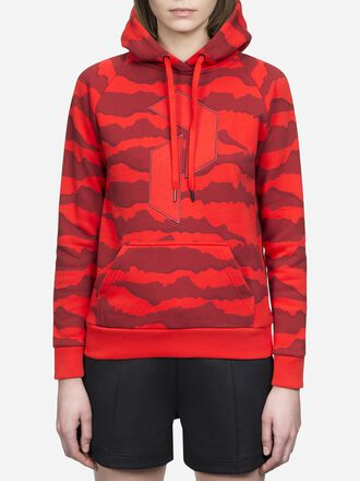 Women's Art Hoodie Poppy Red | Peak Performance