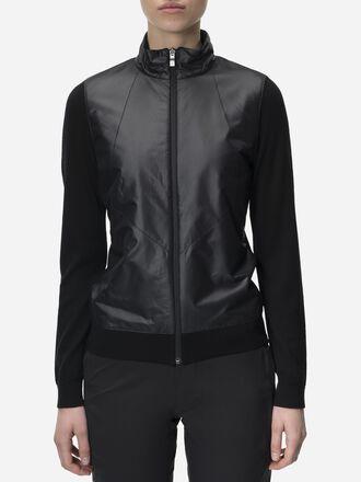 Women's Golf Sanford Zipped Jacket Black | Peak Performance