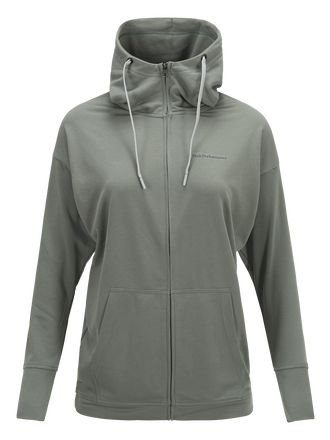 Women's Structure Zipped Hooded Sweater
