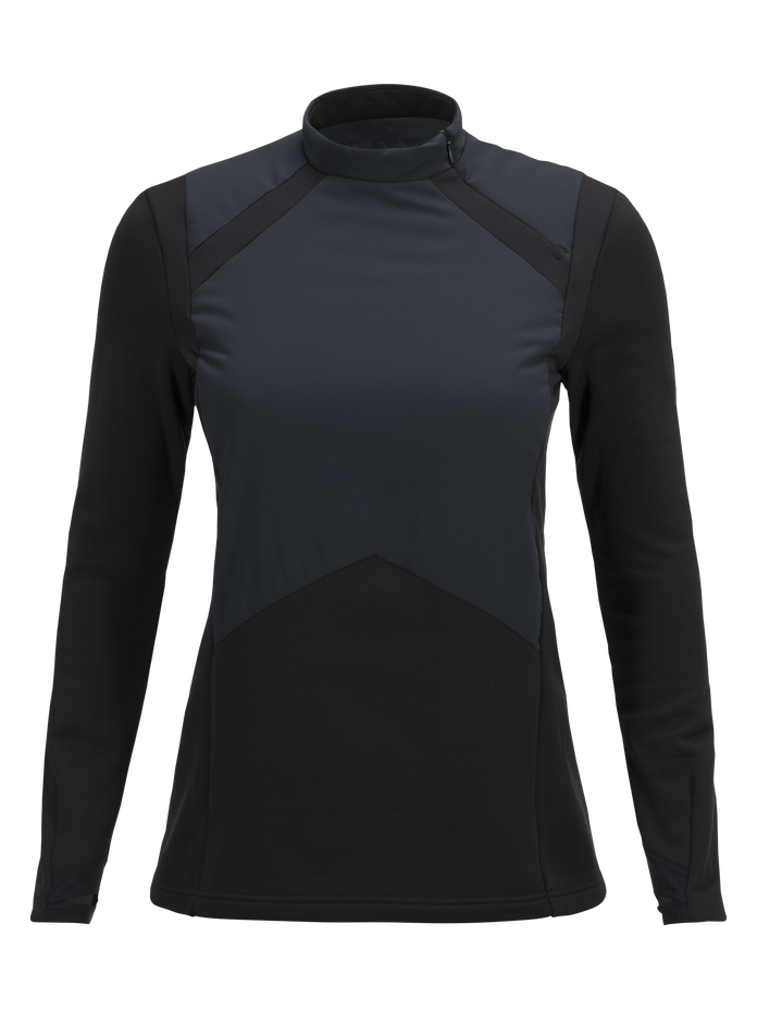 Women's Hybrid Ski Crew neck Black | Peak Performance