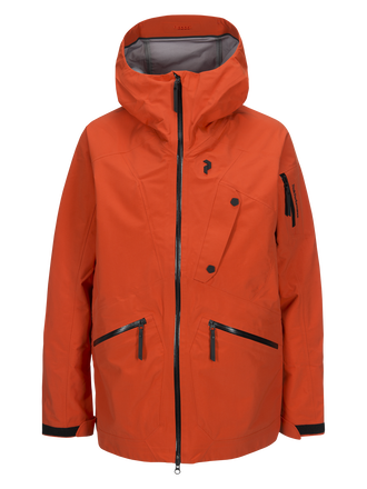 Herren Bec Skijacke Orange Lava | Peak Performance