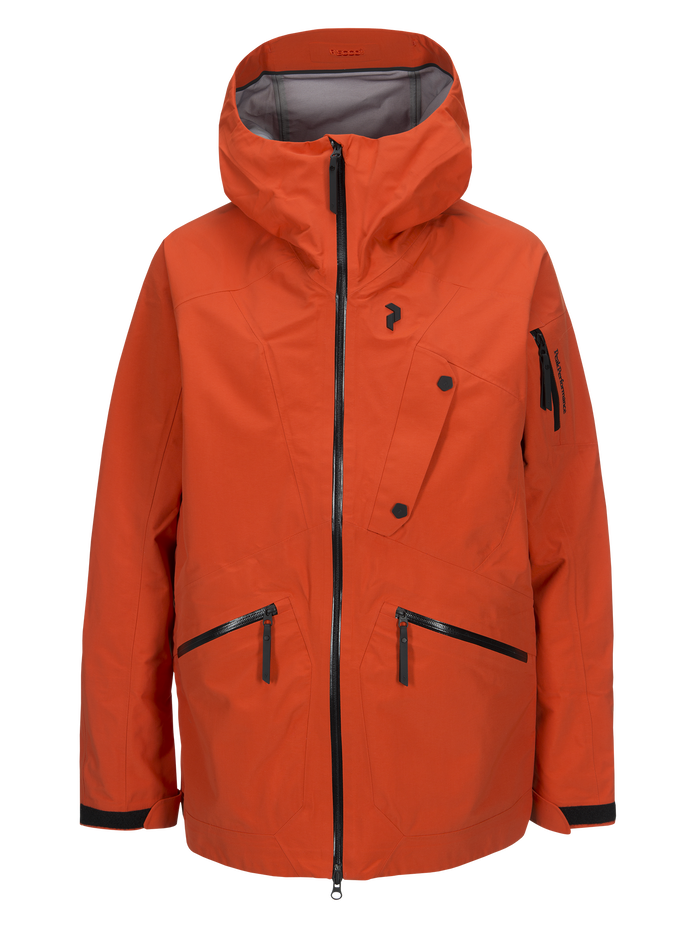 Men's Bec Ski Jacket Orange Lava | Peak Performance