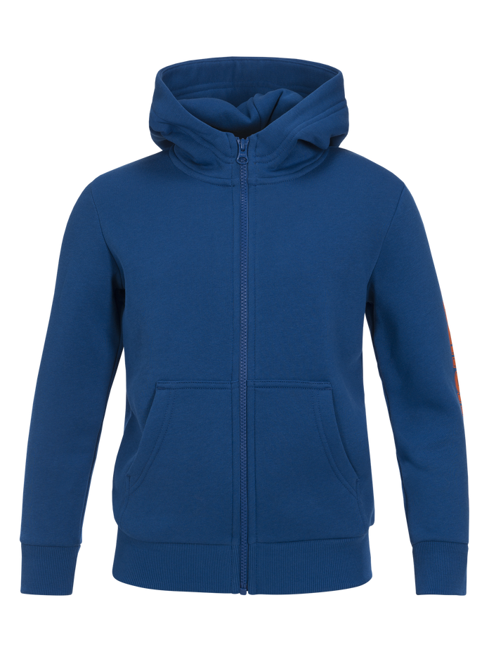 Kids Sportswear Printed Zipped Hoodie True Blue | Peak Performance