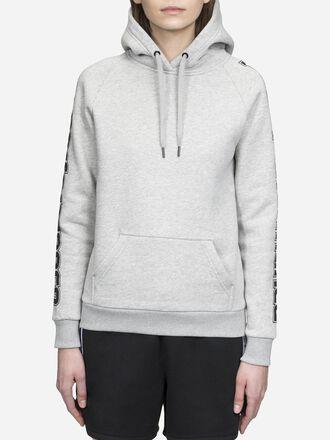 Damen Sportswear Mit Print Hoodie Med Grey Mel | Peak Performance