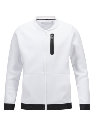 Kids Tech Zipped Jacket  White | Peak Performance
