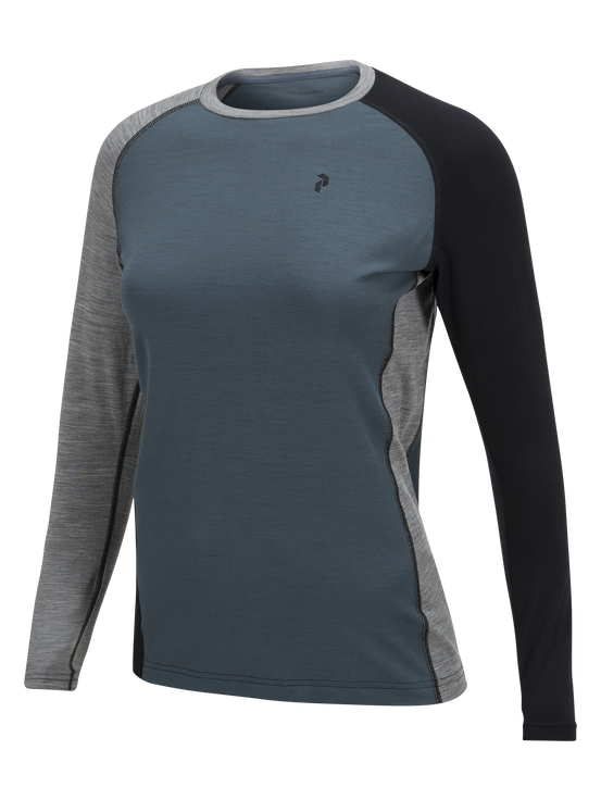 Women's Multi Long-sleeved Base layer Blue Steel | Peak Performance