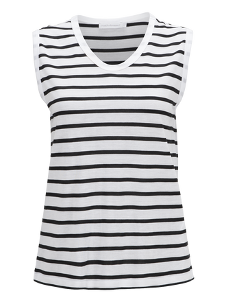 Women's Nick Striped Top White | Peak Performance
