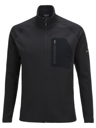 Men's Black Light Mid Zipper Jacket