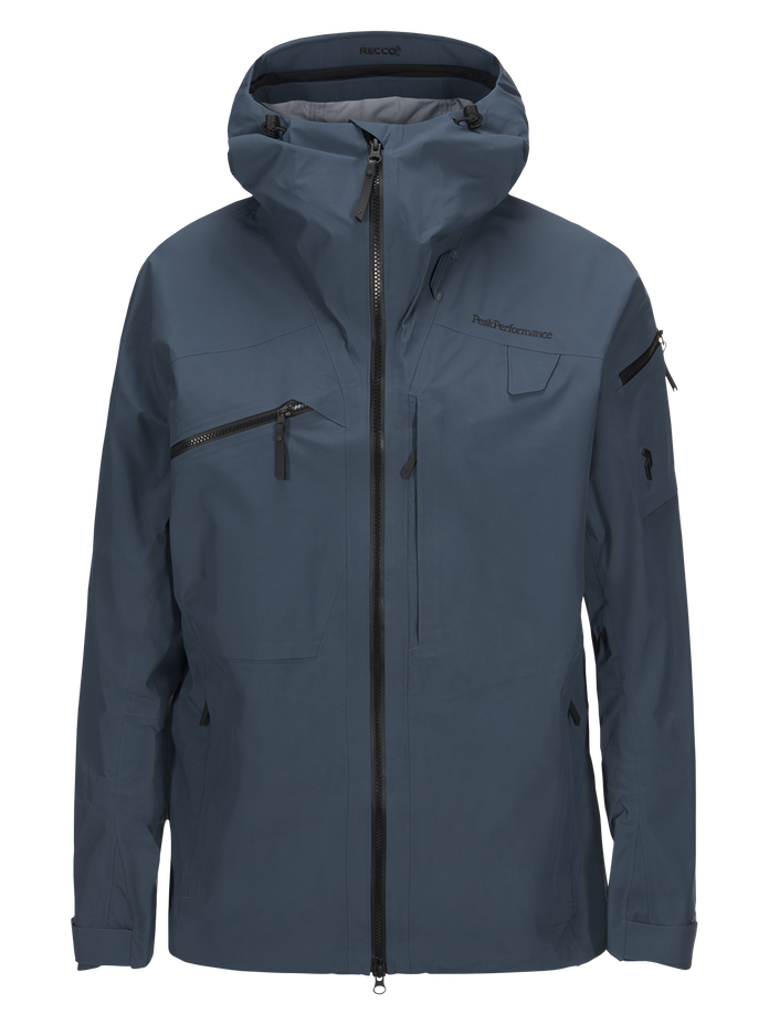 Men's Alpine Ski Jacket Blue Steel | Peak Performance