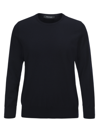Men's Merino Crew neck Salute Blue | Peak Performance