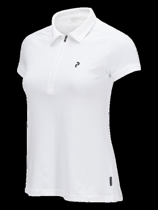 Kortärmad golftopp med dragkedja för damer White | Peak Performance