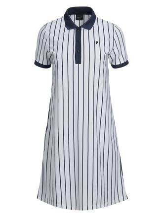Women's Golf Ramsdale Striped Dress White | Peak Performance