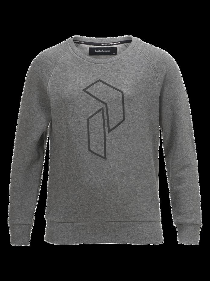 Sweat-shirt ras du cou enfant Tech Grey melange | Peak Performance