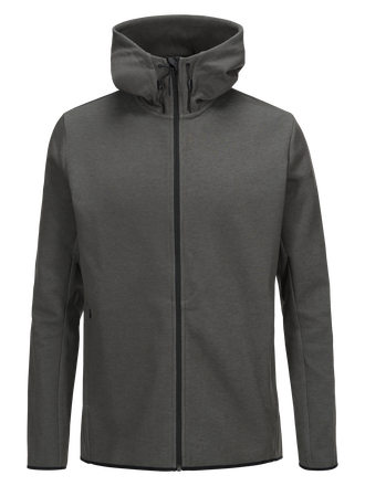 Men's Tech Zipped Hooded Sweater Olive Extreme | Peak Performance