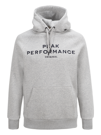 Men's Logo Hood Med Grey Mel | Peak Performance