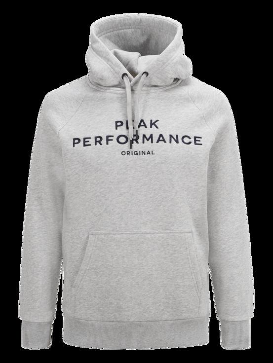 Logo herrtröja med huva Med Grey Mel | Peak Performance