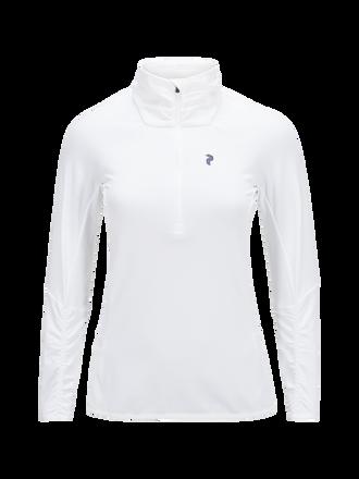 Haut de golf intermédiaire à demi-zip pour femmes Wiltshire White | Peak Performance