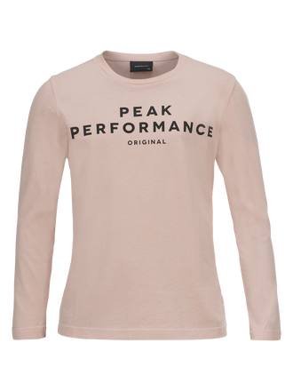 Kids Logo Long-sleeved Jersey Softer Pink | Peak Performance