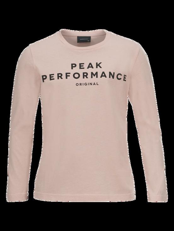 Logo långärmad barntröja Softer Pink | Peak Performance