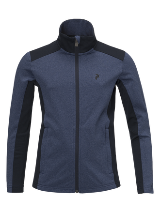 Kids Ace Melange Mid Jersey Thermal Blue | Peak Performance