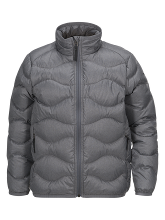 Kids Helium Melange Jacket Grey melange | Peak Performance