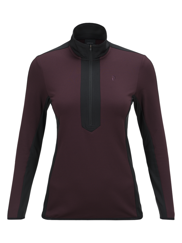 Jersey de golf à demi-zip femme Ace Mahogany | Peak Performance