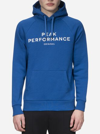 Herren Logo Hoodie True Blue | Peak Performance