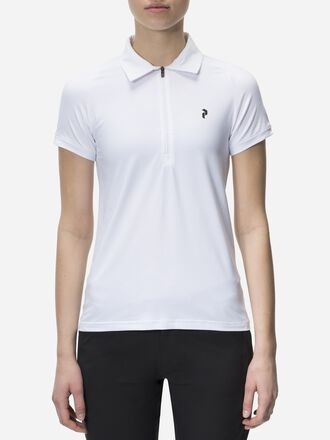 Women's Golf Half-Zipped Shortsleeved Top White | Peak Performance