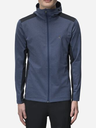 Men's Ace Zipped Hooded Mid-layer Thermal Blue | Peak Performance